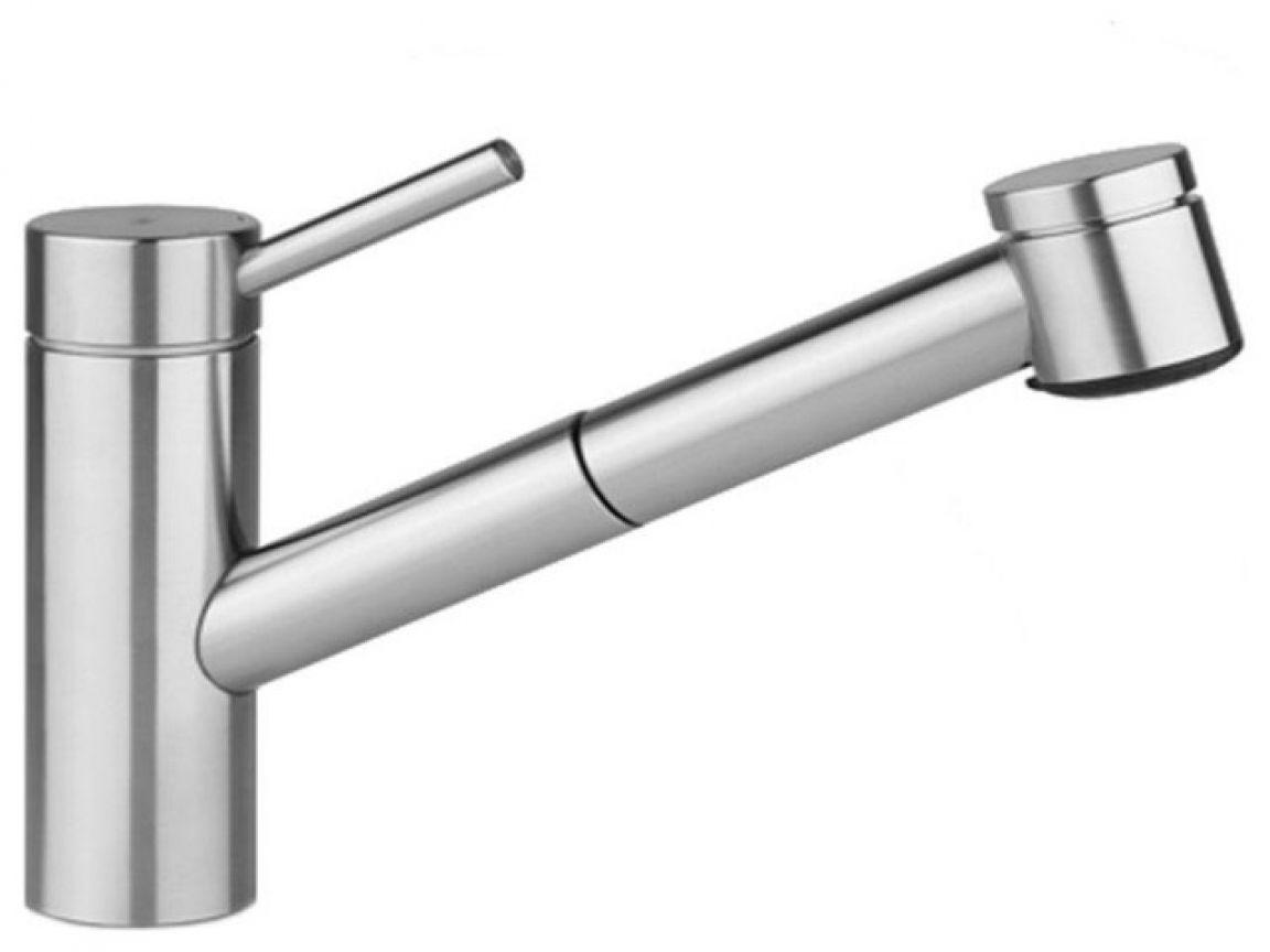 grohe kitchen faucets kwc shop ladylux supersteel high arc faucet ...