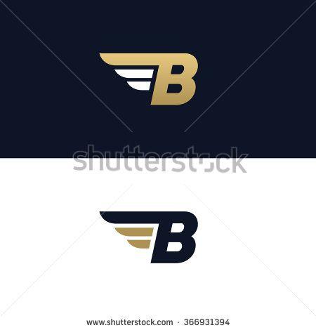 Enement Letter | Letter B Logo Template Wings Design Element Vector Illustration