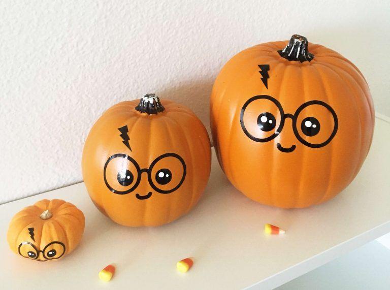 Cute Easy Diy No Carve Harry Potter Pumpkin Free Svg File