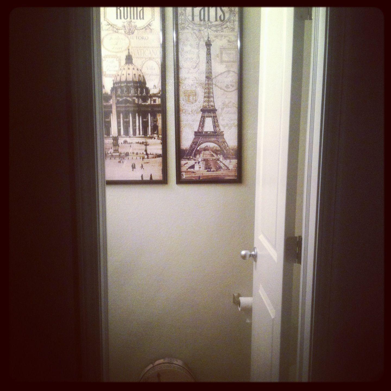 Paris Themed Cottage Half Bath Bathroom Themes Master