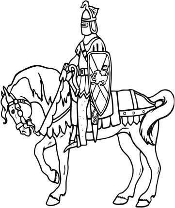 Click To See Printable Version Of Knight On Horse Coloring Page