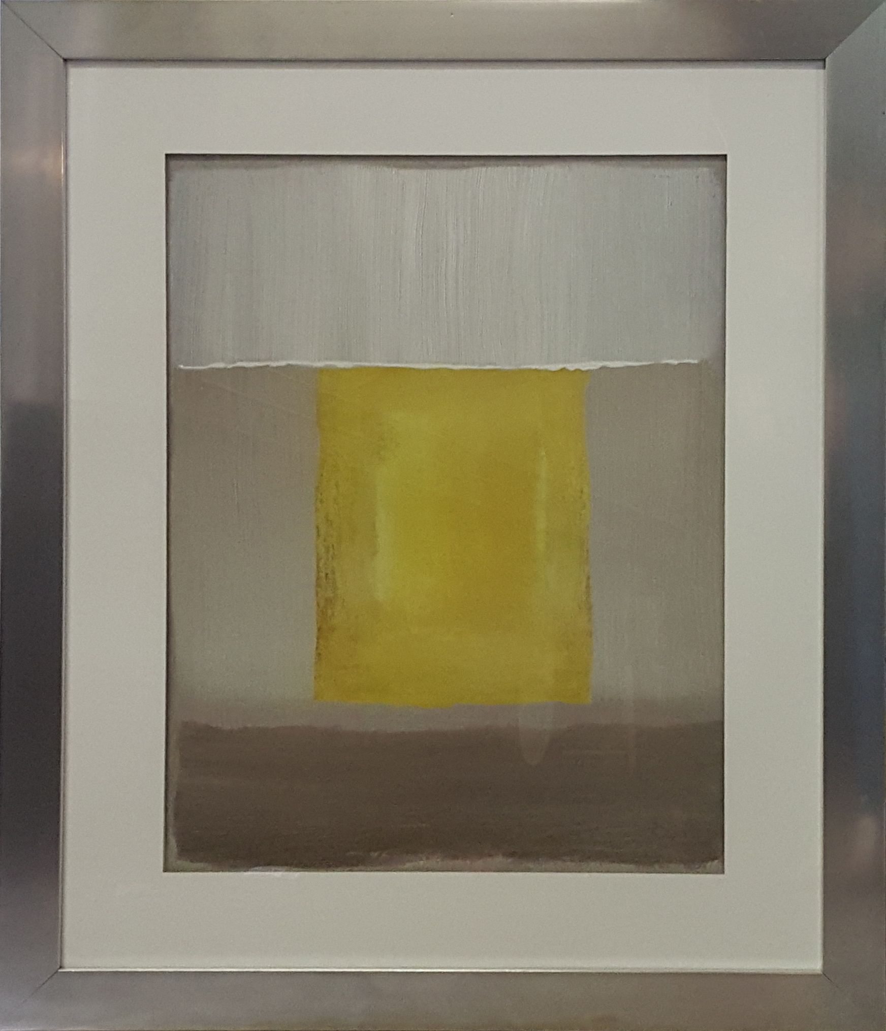 1- ONE IN STOCK - Canary Smoke Framed Wall Art- 27.5\