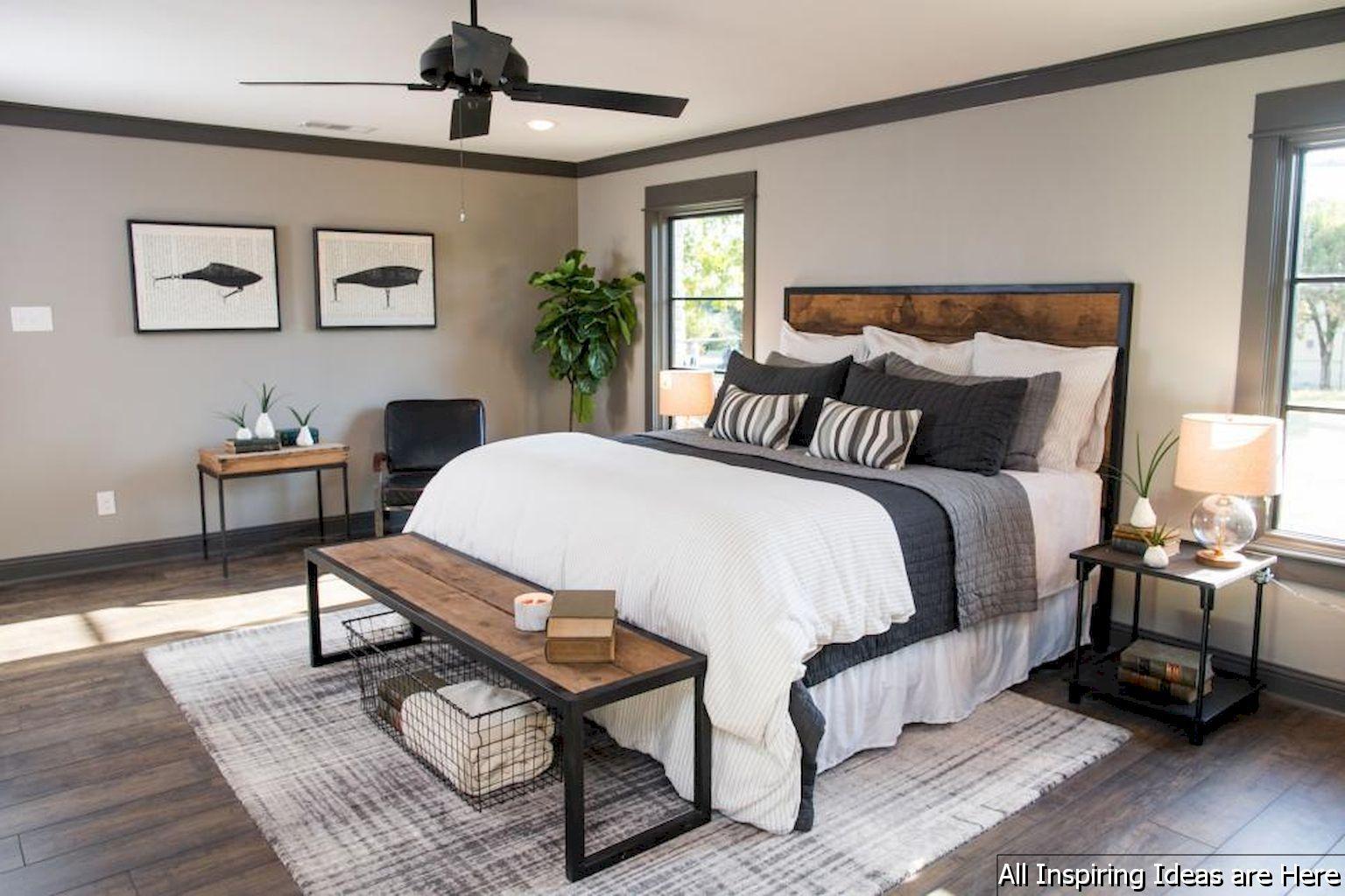 03 Beautiful Modern Farmhouse Bedroom Master Suite Ideas