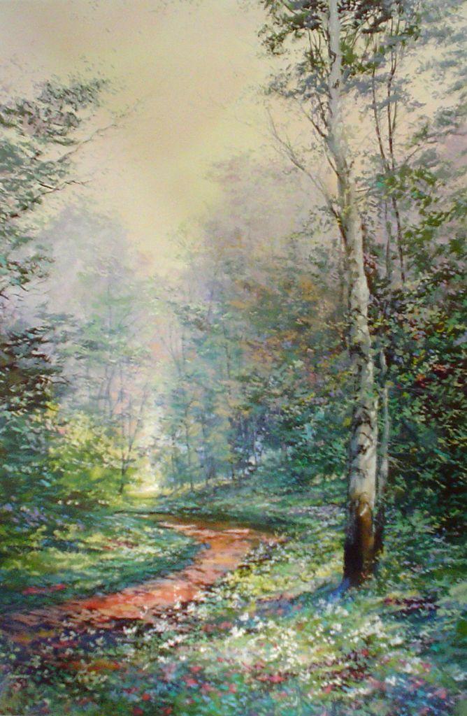 Artist: Michael Schofield; Title: Waldenthorpe Wood, c 1980s; Medium: offset lithograph fine art print