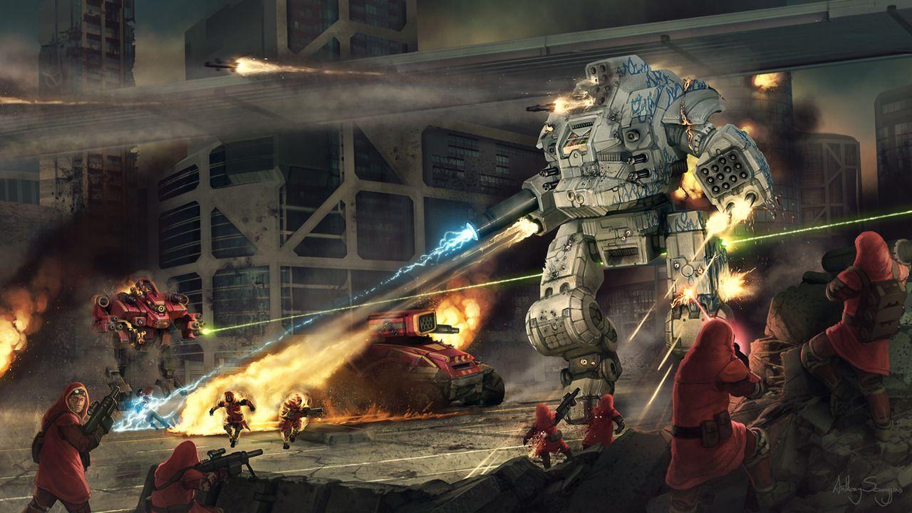 Battletech Draconis Combine Sunder By Shimmering Sword Futuristic Art Mech Mecha Tanks