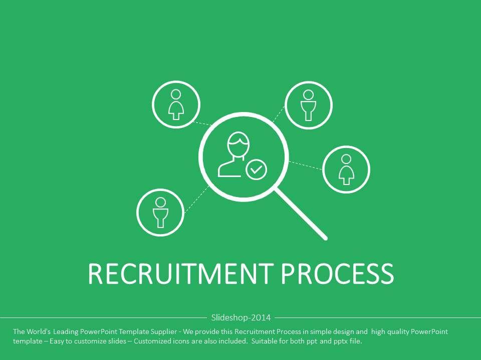 Recruitment Process Presentation Templates  Flat Powerpoint