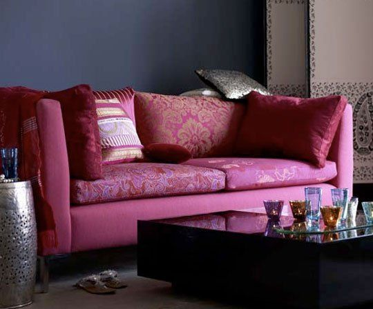 Color Combo: Hot Pink and Dark Blue | Color combos, Dark blue and House