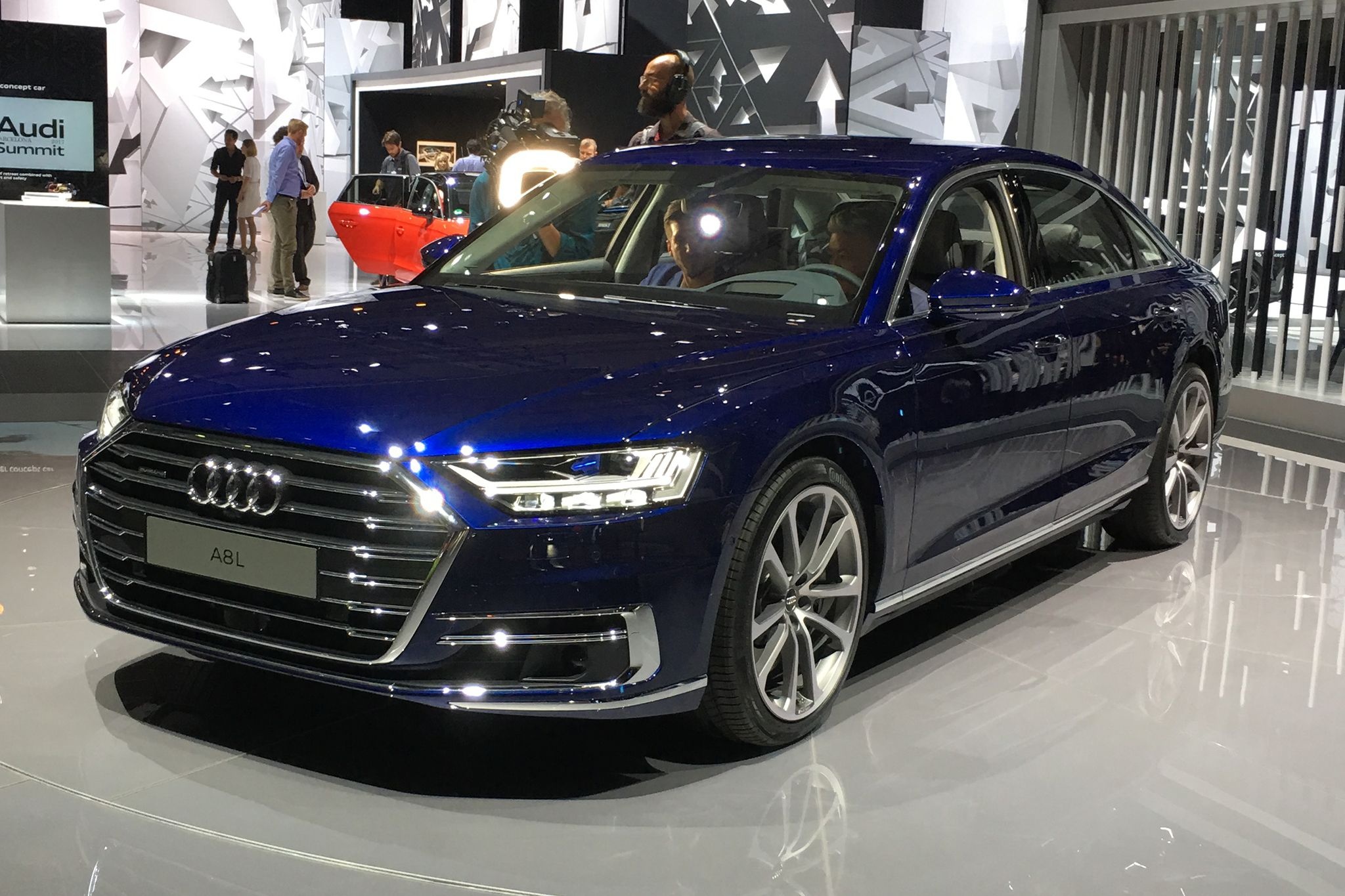 """The 2019 Audi A8 is described as """"the first production automobile in ..."""