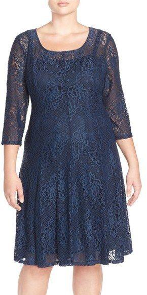 Nordstrom - Chetta B 'Magic' Lace Fit & Flare Dress ...