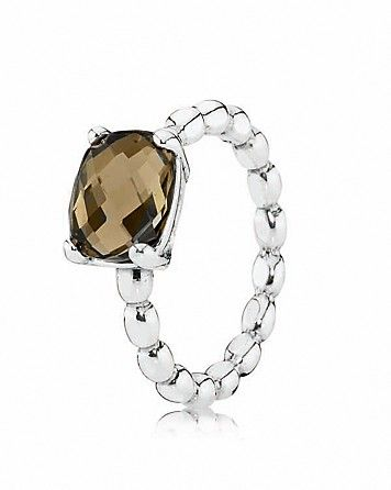 PANDORA Ring Smoky Quartz Autumn Breeze Bloomingdales my