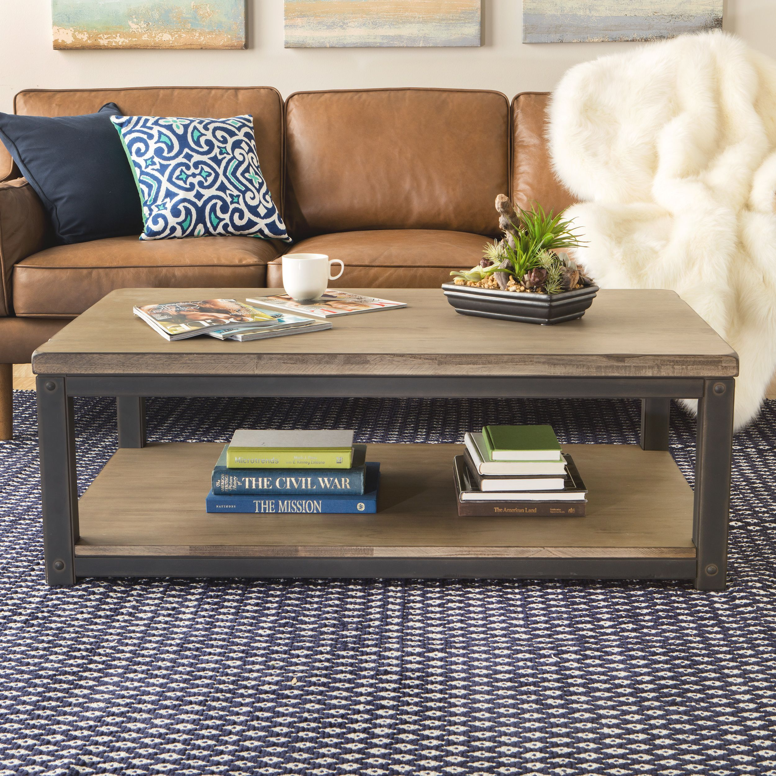 Heritage Coffee Table Brown Coffee Table Farmhouse Coffee