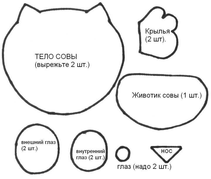 Felt Owls    Felt Owls Stencil Patterns