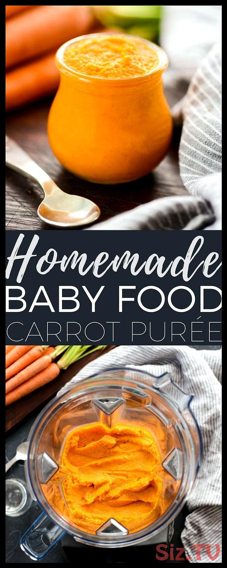 Homemade Baby Food Carrots are so easy to make and only contain two ingredients organic carrots and water Plus they taste worlds better than storeHomemade Baby Food Carro...