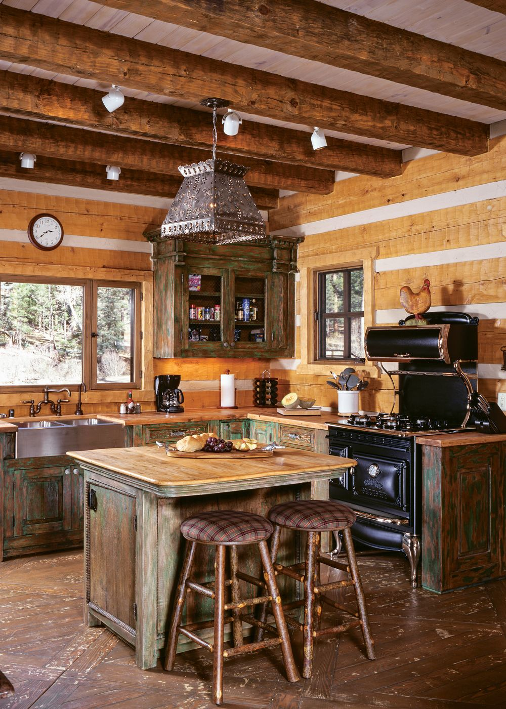 Charming Chic Log And Timber Frame Kitchens Log Home Kitchens Log Cabin Kitchens Cabin Kitchens