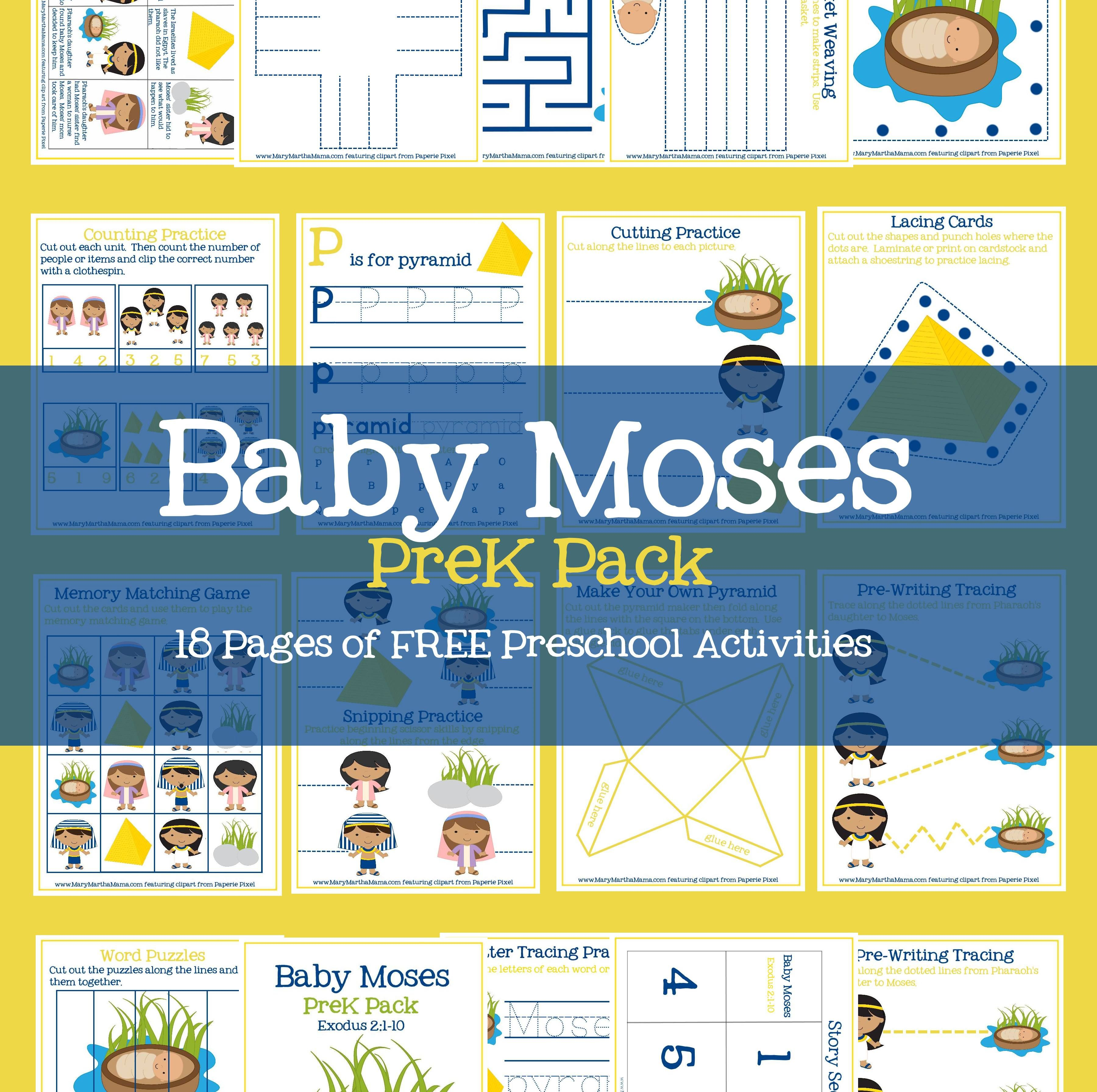 Baby Moses Prek Pack