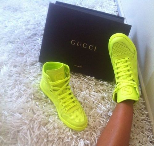 Neon GUCCI Sneakers ☻ … | Sneakers