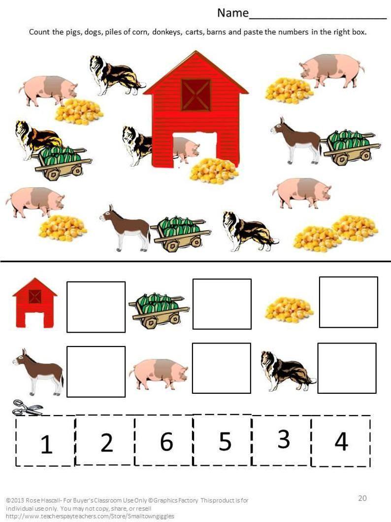 Farm Animals Worksheets For Kindergarten