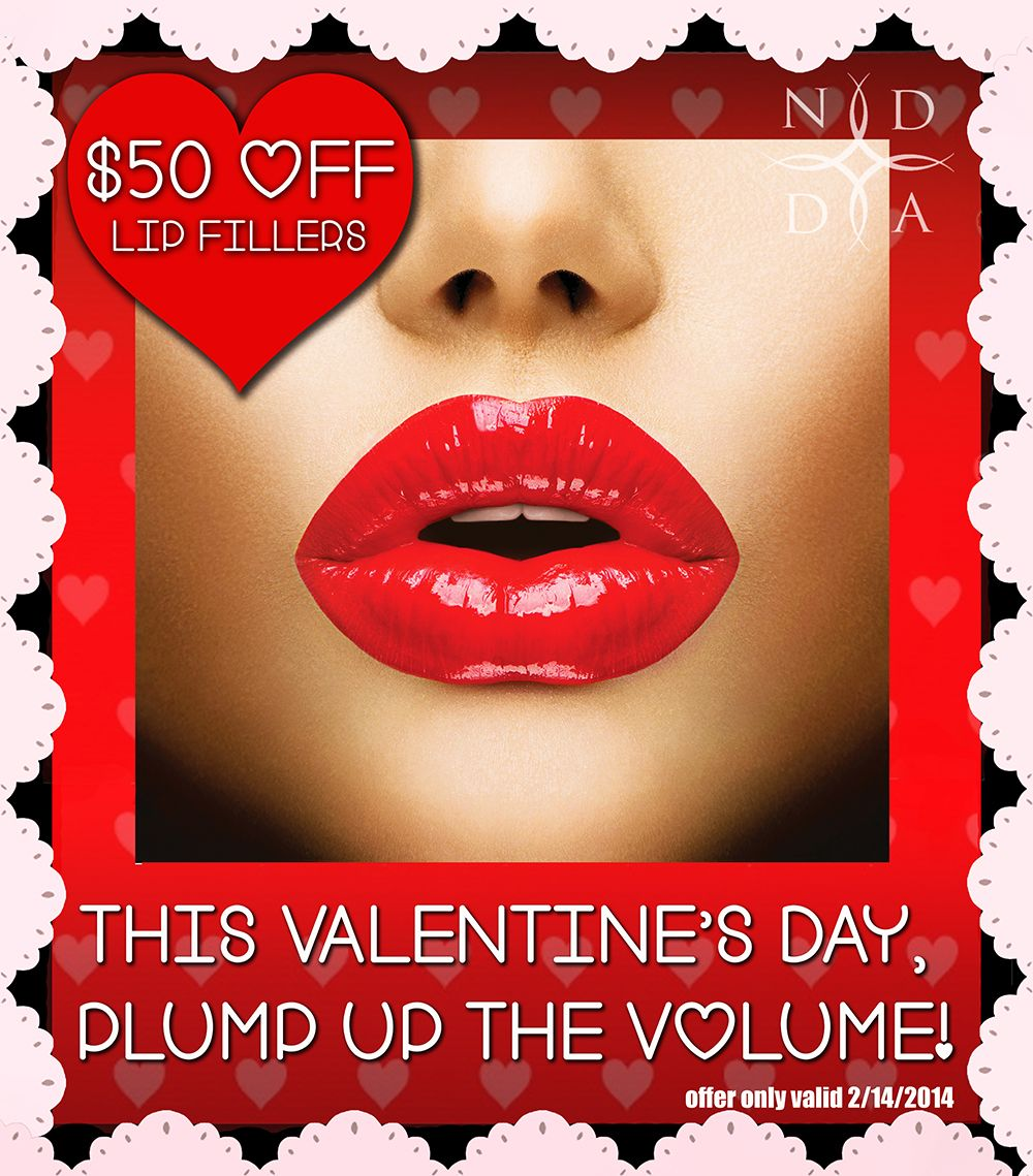This Valentine S Day Plump Up The Volume Lip Fillers Are 50 Off Offer Good Valentine S Day Only Call 214 42 Dermatology Cosmetic Dermatology Dermatologist