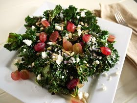 Eighty Twenty: 80--- Roasted Kale Salad with Lemon Shallot Dressing