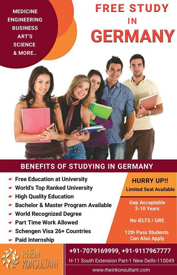 Pin by Rhein Konsultant on Free Study In Germany Free