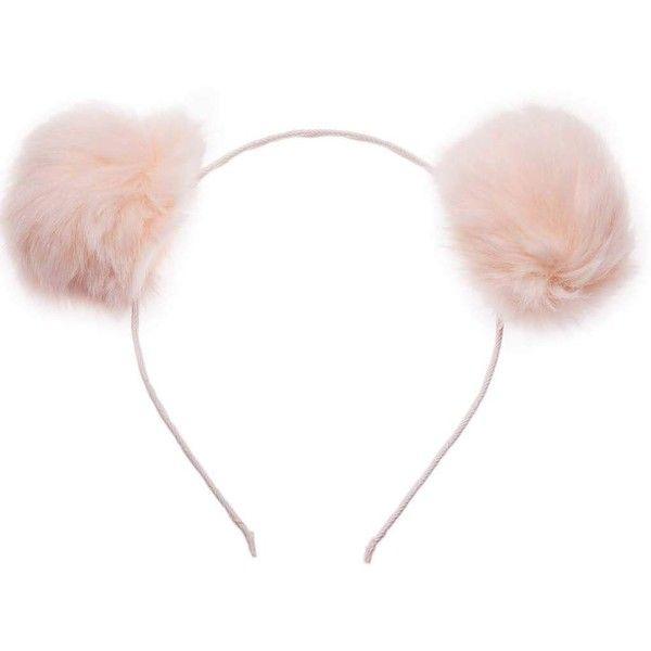 Pink Pom Pom Ears Headband By Orelia 17 Liked On