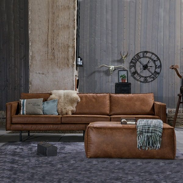Rodeo 3 Seater Leather Sofa In Tan By Bepurehome In 2019 Marof 3