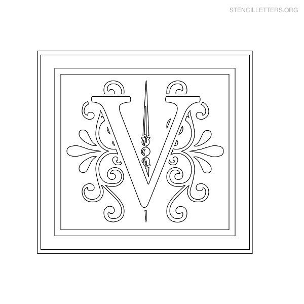 Stencil Letters V Printable Free V Stencils  Stencil Letters Org