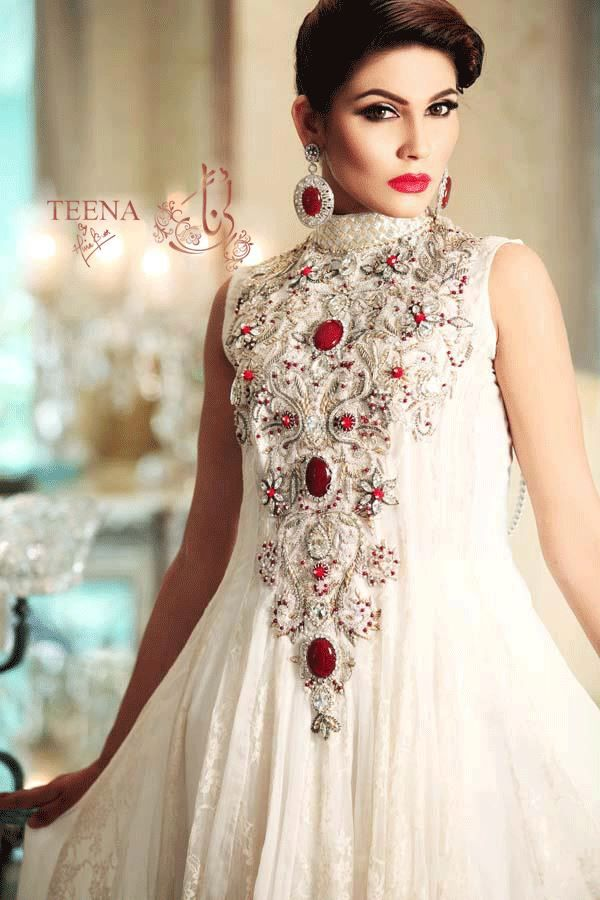 Latest Exclusive Teena by Hina Butt Colorful Party Wear Outfits ...