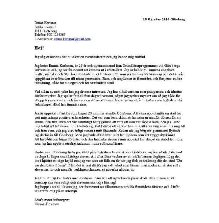Personligt Brev Butikssaljare Gratis Nerladdning Exempel Personligt Brev Brev Persona