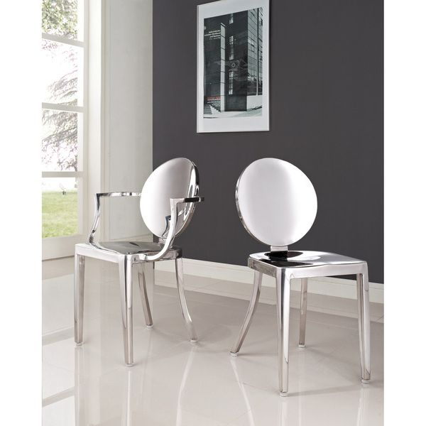 Superb Philippe Starck Polished Stainless Steel Louis And Victoria Ghost Chairs Set