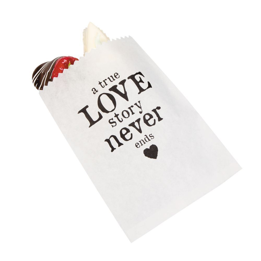 A True Love Story Never Ends Wedding Treat Bags