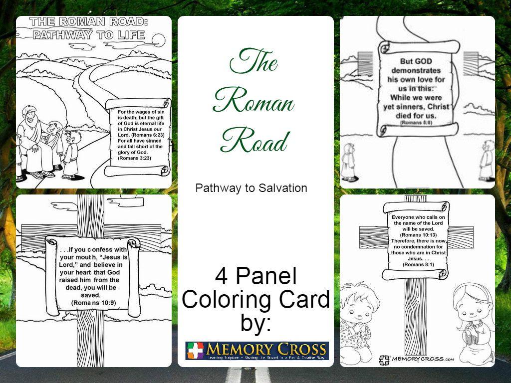 Roman Road 4 Panel Coloring Card Check Http Store Memorycross