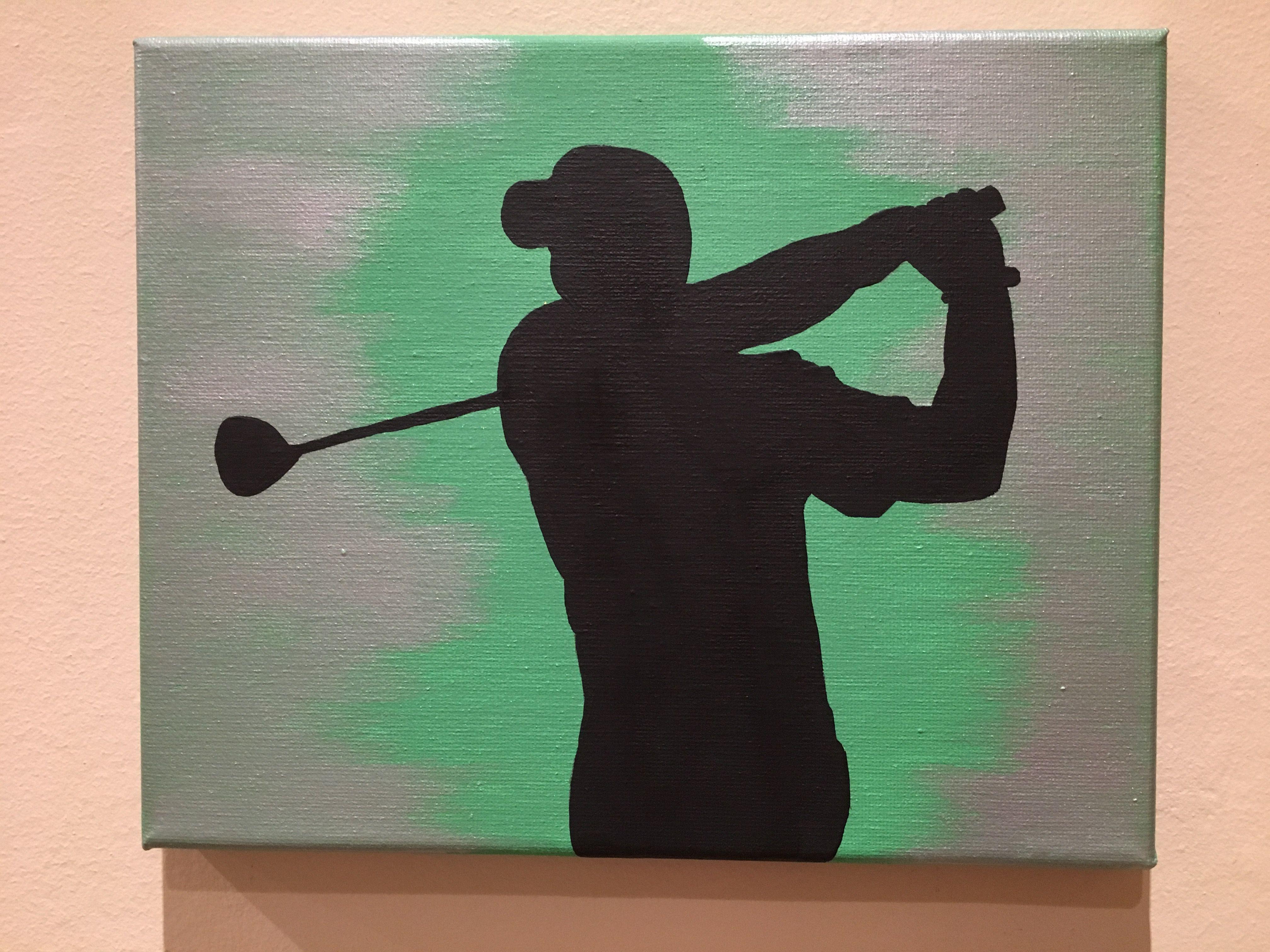 Golf Sports Canvas Painting Art Cool Golf Tips Pinterest Golf