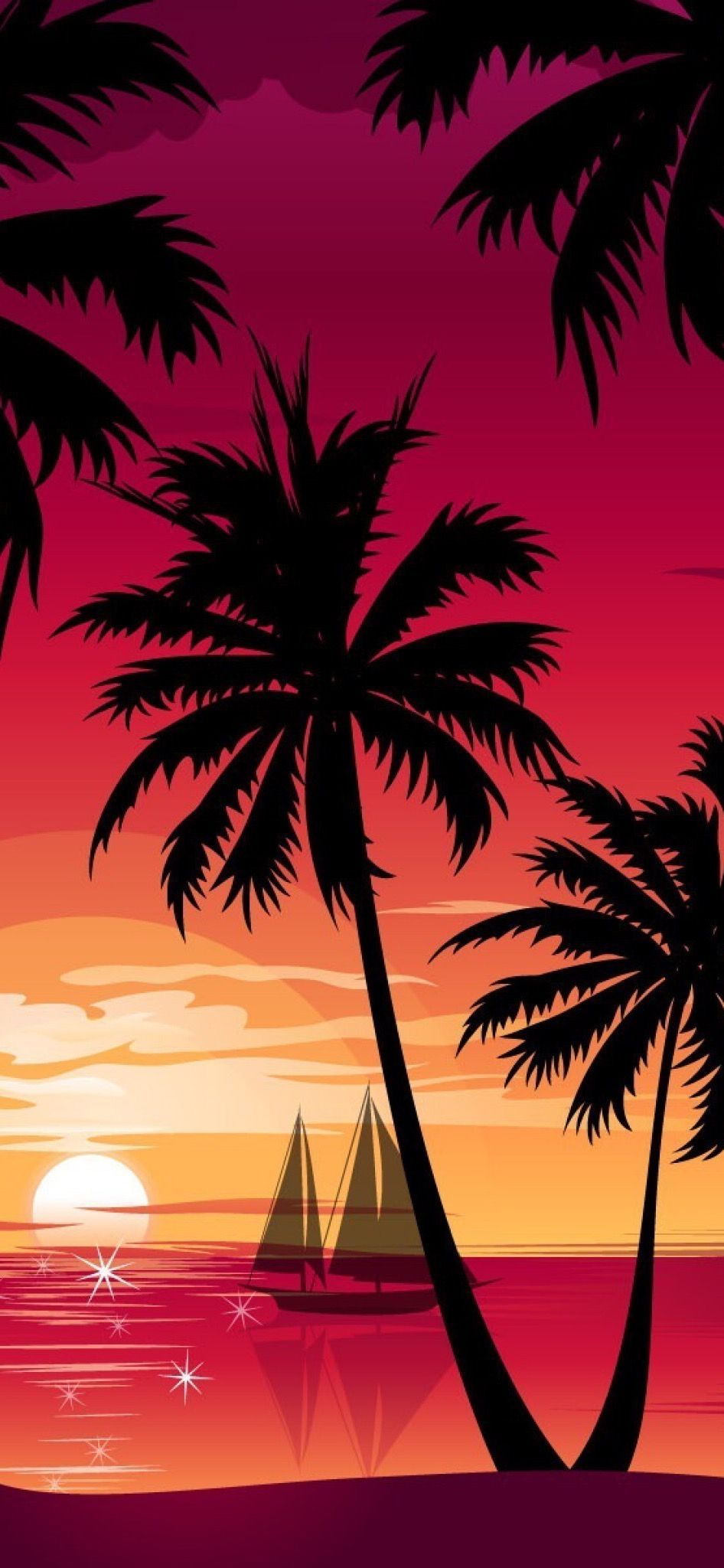 Pin By 伸幸 亀田 On 壁紙 In Sunset Wallpaper Surf Painting Beach Wallpaper