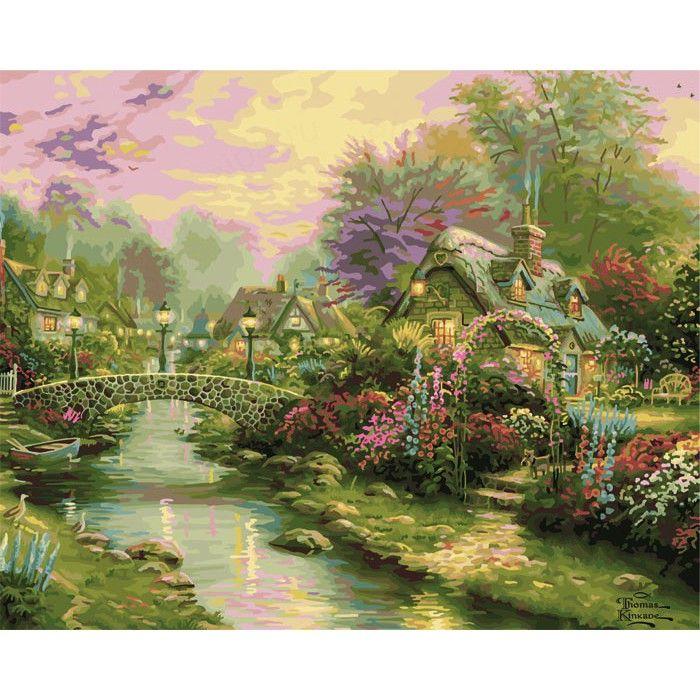 Мост с фонарями Раскраска картина по номерам Plaid PLAID ...
