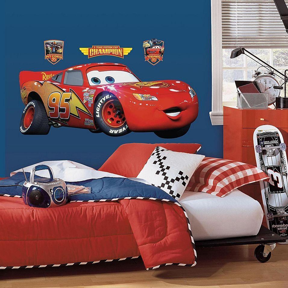Roommates Disney Pixar Cars Lightning Mcqueen Giant Wall Decal Disney Cars Bedroom Cars Room Lightening Mcqueen [ 956 x 956 Pixel ]