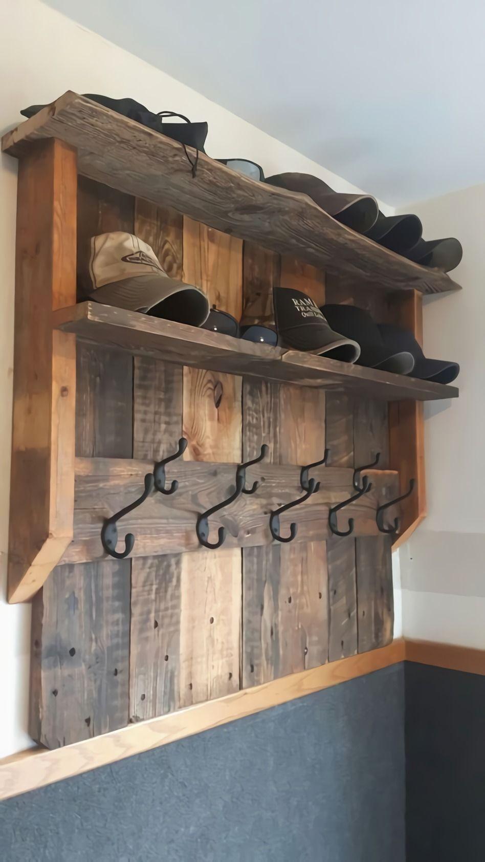 9 DIY Hat Rack Ideas for Any Home Diy pallet furniture