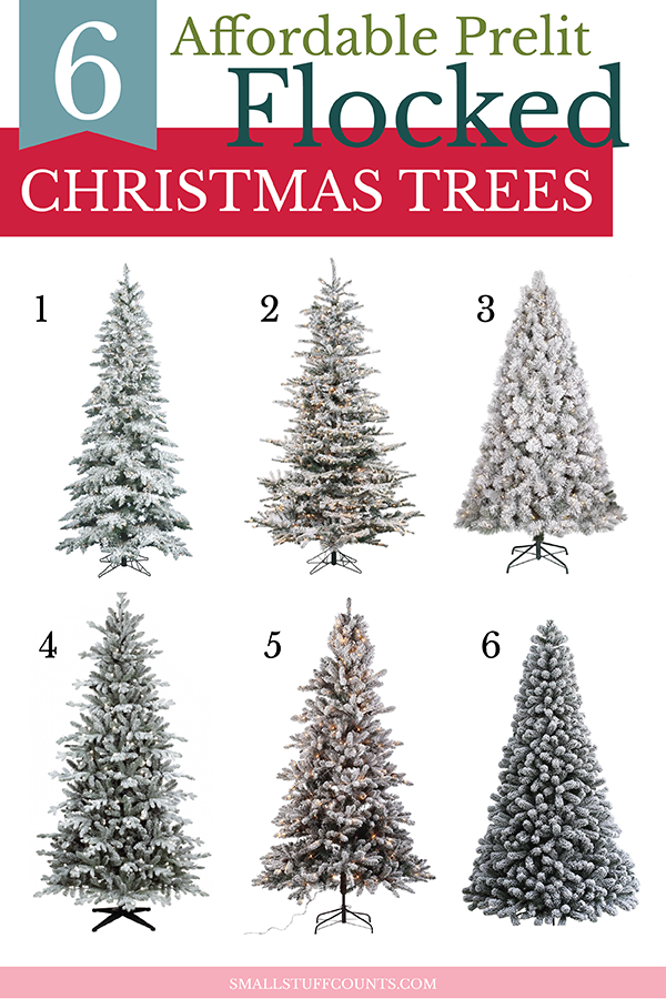 24 Gorgeous Affordable Flocked Christmas Trees Small Stuff Counts Flocked Christmas Trees Snowy Christmas Tree Christmas Tree Shop