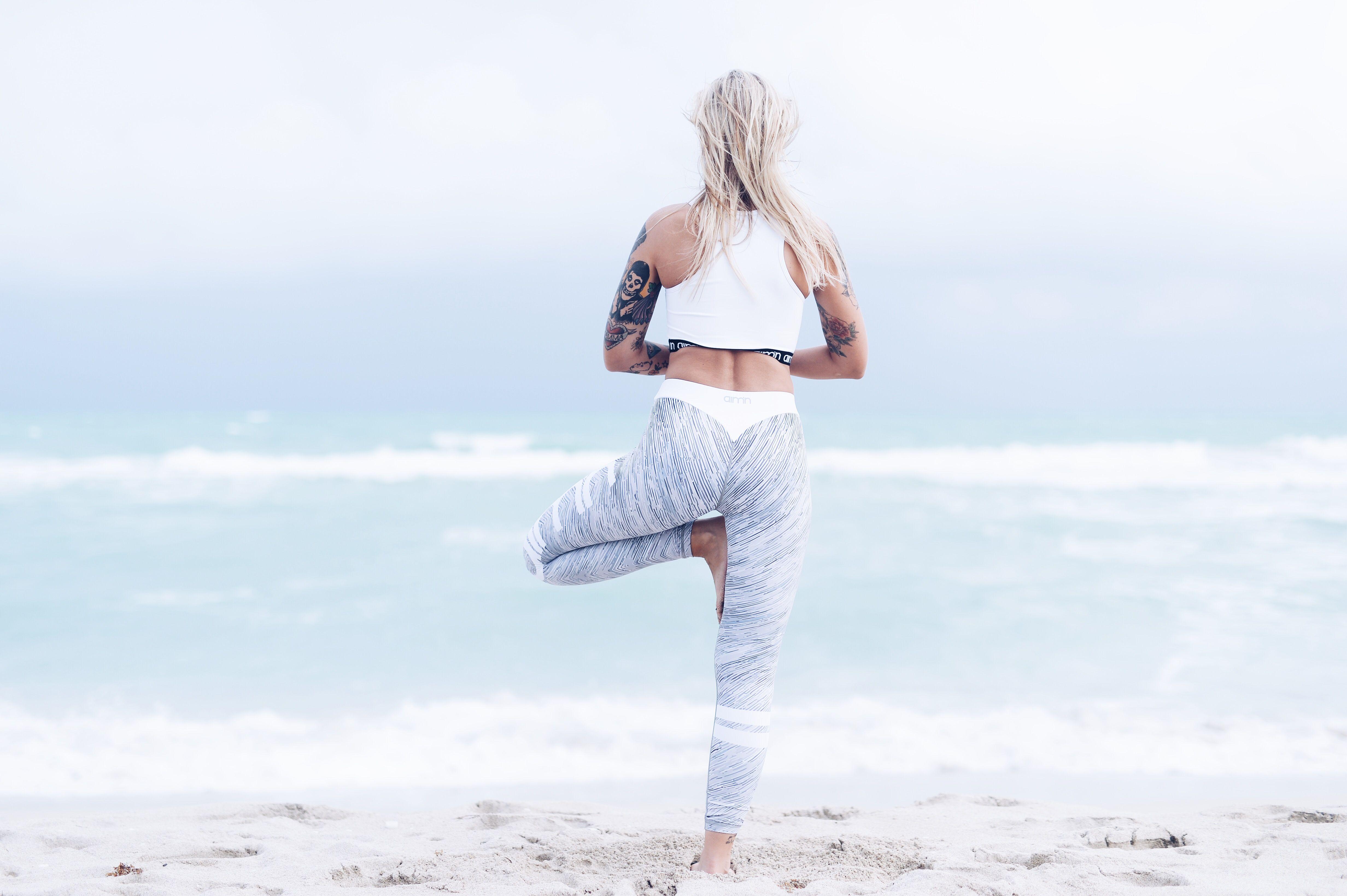 The Tree Yoga Pose Leggings Workout Gym Workout Leggings Colorful Workout Leggings