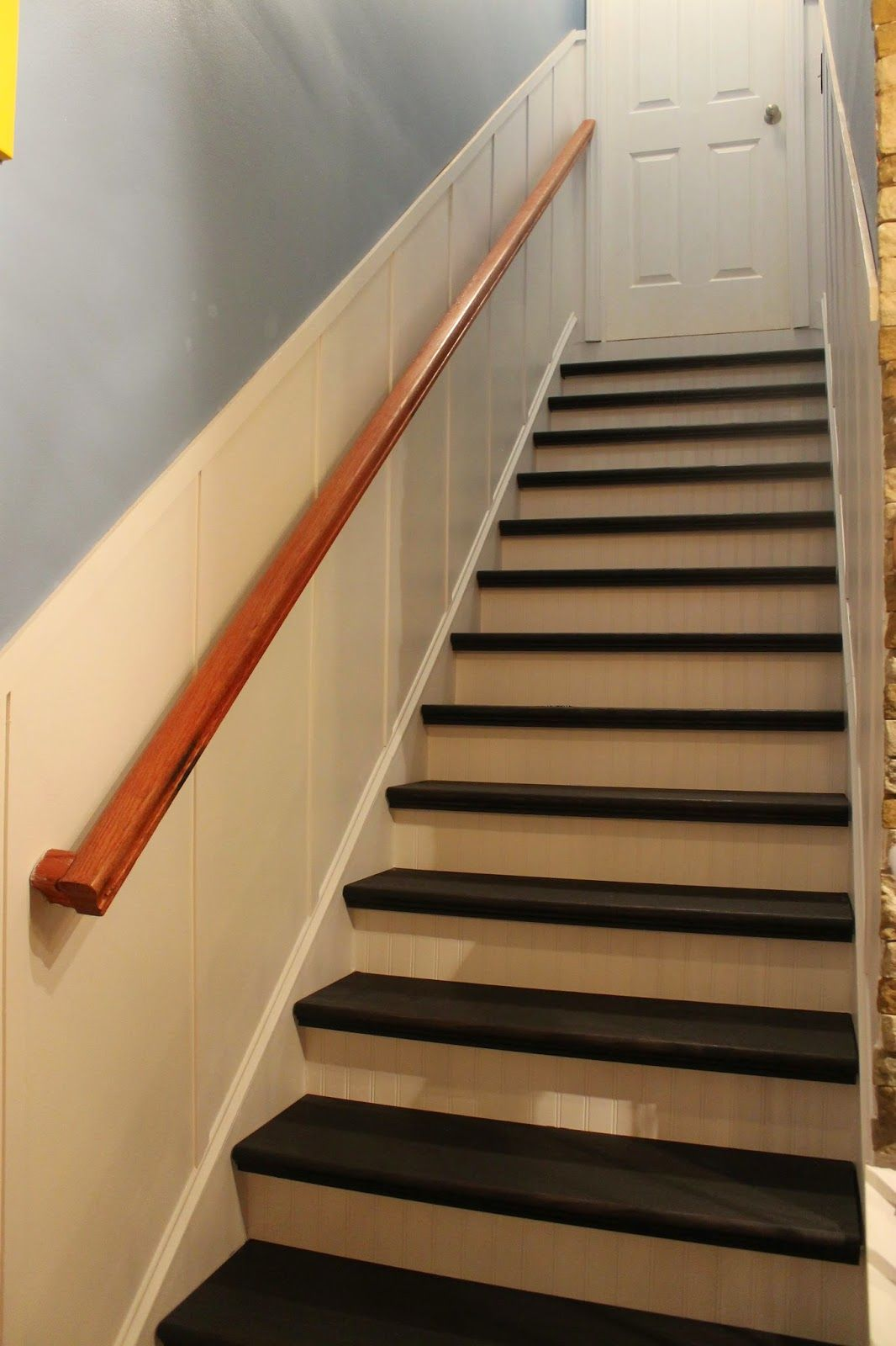 Paint Speckled Pawprints: Refinished Staircase Reveal