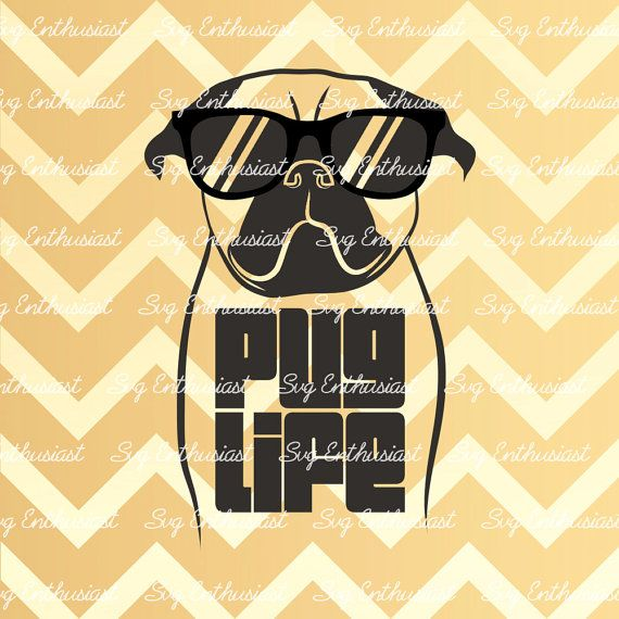 Get I Love My Pug – Svg File Cutting File SVG