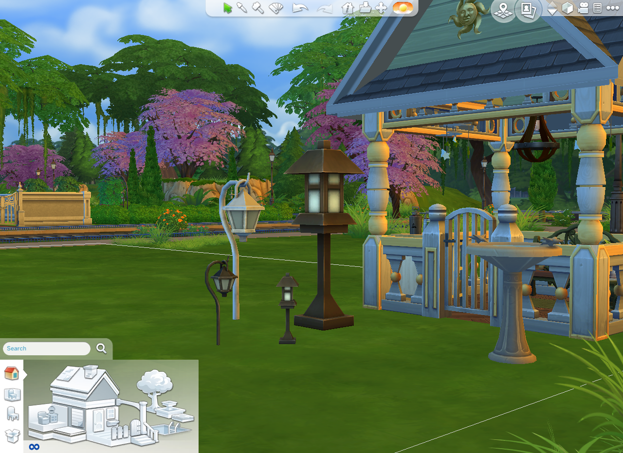 Okay so this isn't a build but a #sims4 build tip. Shift+] helps take the annoyingly to small outdoor lights from small to decent size. One last note when uploading outdoor rooms like the gazebo pic'd roofs don't transfer :(