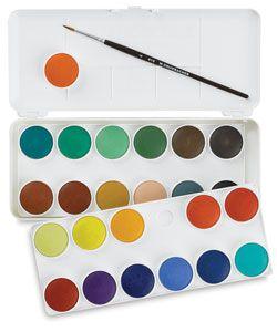 Grumbacher Watercolor Pan Sets Watercolor Pans Paint Set Craft