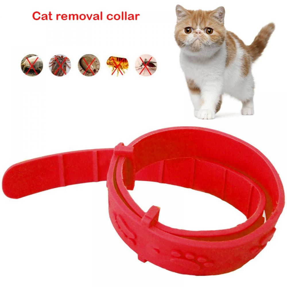 1pcs Pet Cat Flea Collar Adjustable Collar Against Anti Tick Quick Kill Remove Pet Protect Repel Rubber Necklace Cat Supplies Cat Flea Collar Cat Fleas Cat Supplies