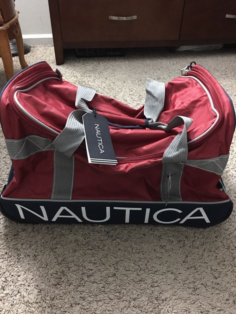 916dacff2d7157 Nautica Travel Duffle Bag Red And Navy Blue #fashion #clothing #shoes # accessories #unisexclothingshoesaccs #unisexaccessories (ebay link)