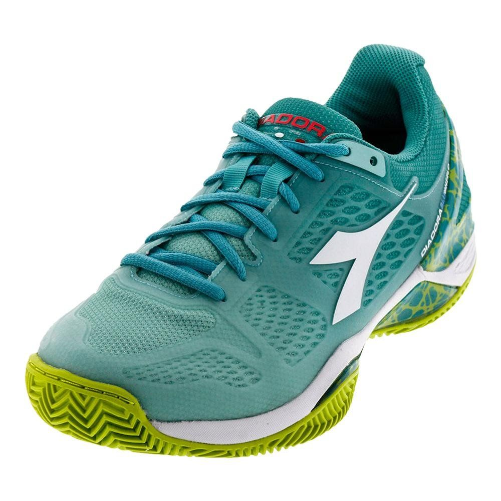 Diadora Women`s S Blueshield Clay Tennis Shoes Aruba Blue