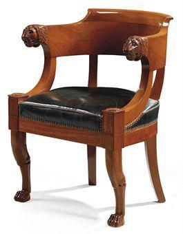 Butaca de escritorio estilo imperio sillas sillas y m s for Muebles estilo imperio