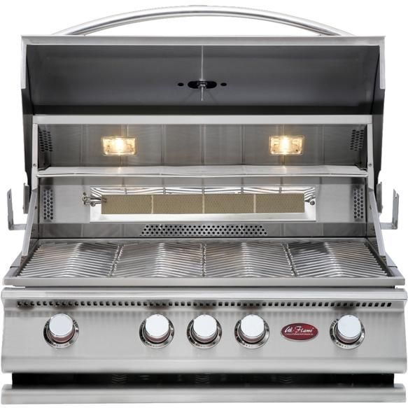 Cal Flame 32-Inch Premium 4 Burner Built-In Natural Gas Grill With Rotisserie (Ships As Propane With Conversion Fittings) : BBQ Guys