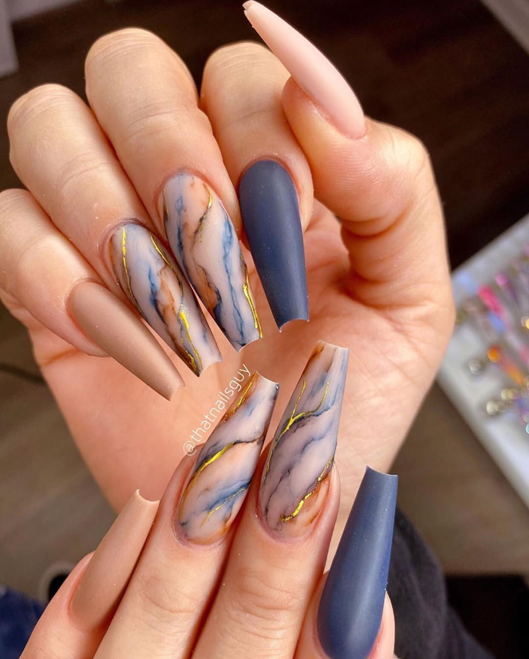Makeup And Nails Of Insta On Instagram Marble Nails Doubletap Follow Makandnails Turn Swag Nails Fall Acrylic Nails Long Acrylic Nails