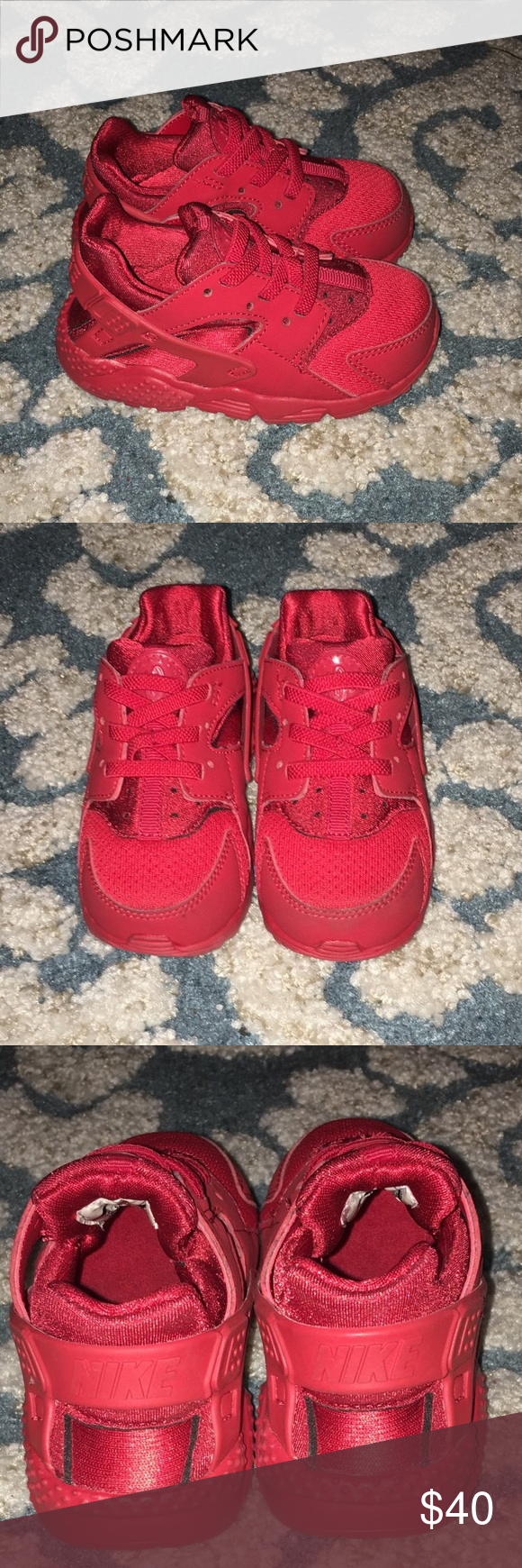278c4a0ccf University Red Nike Huarache (Toddler) Size: 7C Style: 704950-600 (Very  gently worn, do not have original packaging) Nike Shoes Sneakers
